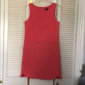 Ann Taylor Salmon Lined Knit Dress/Scalloped hem.